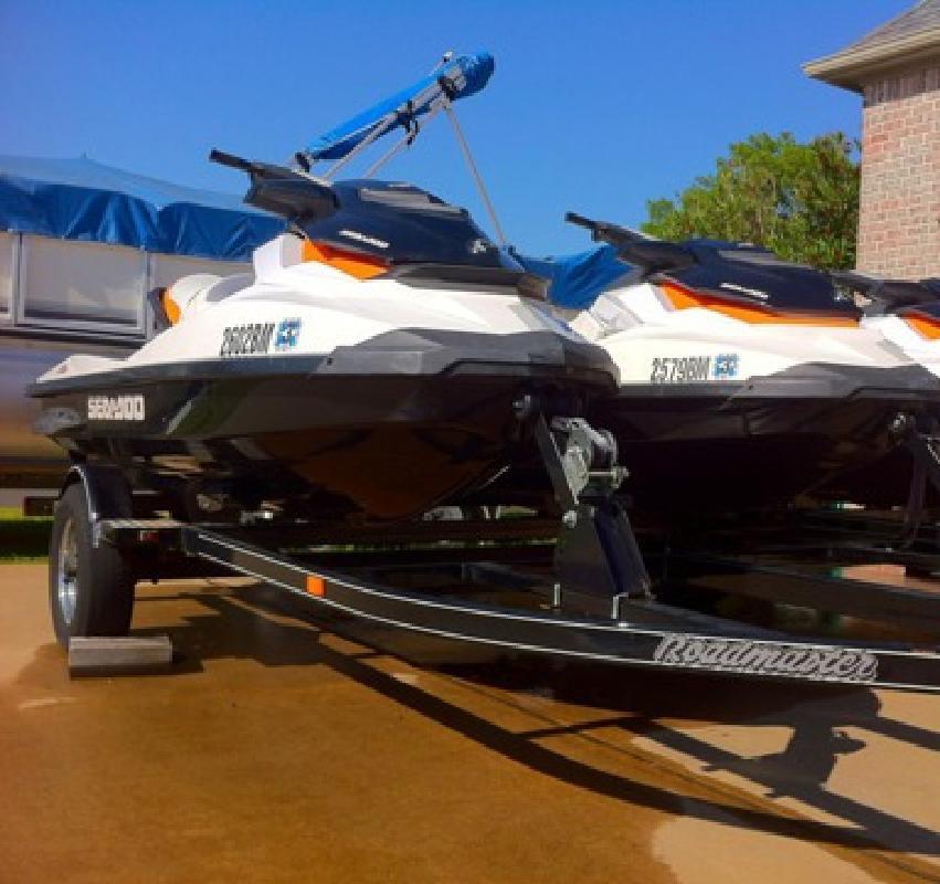 $16,500 OBO 2-2011 SeaDoo GTI 130s with trailer