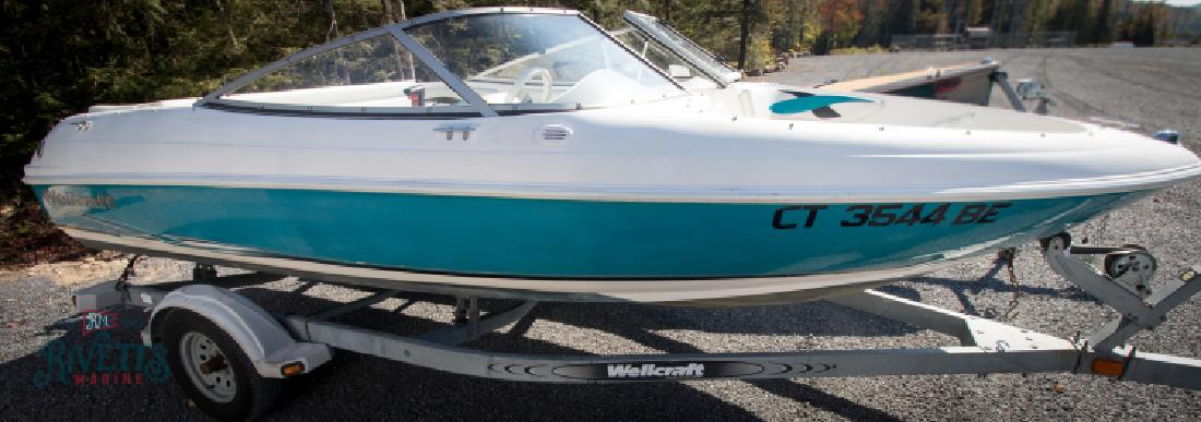 2001 Wellcraft 175 SS Bowrider 2000 EZ Loader Bunk Trailer in Old Forge, NY