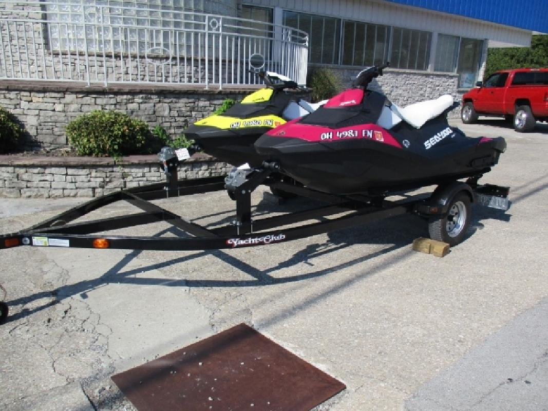 2015 and 2014 Sea Doo Spark 3UP IBR on Double Yacht Club Trailer in Somerset, KY