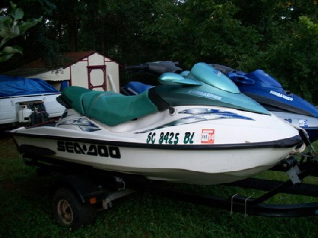 $4,500 2 2001 Jet Skis Sea Doos with Double Trailor