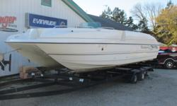Super Clean....1998 Bayliner Rendezvous Deck Boat with 0 Hours on NEW 300 hp Mercruiser I/O.....New Motor was Installed by our Service Dept in 2018 and is till fresh / 0 Hours.....$16,900 for Deck Boat..... Additional Cost for Trailer......Call