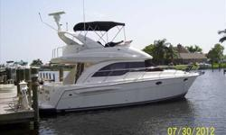 2003 Meridian 341 SEDAN BRIDGE Very nice sedan bridge that combines stylingwith expansive accommodations at a very reasonable price. Roomy two-stateroom interior is nicely highlighted with cherry joinery, and leather upholstery. Cabin windows provide