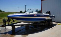 For sale, one owner, very good condition, very low hours, asking price $10,500.The 2002 Nitro 188 Sport 18? HP 115 is the ultimate combination fish / ski boat. Rigged with all the features the fisherman and family will appreciate.It comes with a new
