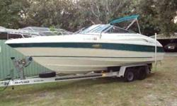 Coastal Marine Center, Inc. Eclipse Located in Nokomis, FL. Call Coastal Marine at 888-459-0227 or email (email removed) for more info. Ready to hit the water! Perfect family fun boat with Mercruiser motor, trim tabs, full platform, ski hook, bimini,