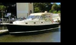 34' MAINSHIP PILOT 34 2002,370 YANMARStarting from forward there is a V-berth with filler cushions, which is the master. Aft to port is the full galley and aft of that, the head with shower. To starboard in the salon is a convertible berth. Follow three