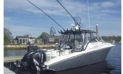 FOR ALL QUESTIONS CONTACT: DAVE 860-989-73062006 Fountain 33 Sport Fish Cruiser, Twin Mercury 275 Verados, Smartcraft Gauges, Westerbeke Gen, AIR CONDITIONING and Heat, Vacuflush Head, Hot Water, Microwave, Single Burner range, Sink, Stereo Cd +