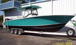 2008 Palmetto 33 CC Very clean, low hours. Black gloss painted bottom. Powered with twin 275 hp Verados. 162 hours. Call the listing broker for your private showing. For more information please call: (888) 816-6651 or call us toll-free at: (888) 510-8204