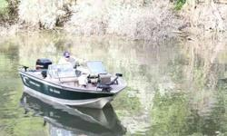 For Sale: 1999 Smokercraft fishing boat. It has a 2000 Mercury 125 horsepower OB motor. (I have topped the boat out at 52 mph) Comes with trolling engine, two fish finders (both Lie); 1 is a hummingbird and the other is a Lowrance. The boat is equipped