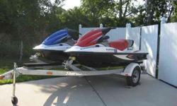 2 Jet skis with trailer4-stroke - always covered with ten hours each Call 407-415-8910Listing originally posted at http://musthaveautos.com/addetails.php?slno=6542