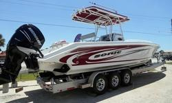 Engine Warranty til 7/2014. Several years a go a major player in the go fast market introduced a center console fishing boat, much to the surprise and bewilderment of the industry. What the industry has found is that as the high performance boat owners