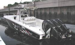 This impressive 2005 38 ft Fountain 38 CC TE cuddy cabin powered by triple mercury 275s is located in Stamford, CT, in the water and ready to go.Fountain boasts some of the most successful tournament fishing teams out there. These boats must be totally