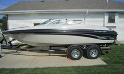 1998 Crownline 202 BR White/Black. Mercruiser 7.4 LX MPI (454) with a Bravo 1 outdrive. 325 hrs. Factory Captains Call Exhaust. Matching Prestige trailer included. If interested please call 402-721-3434