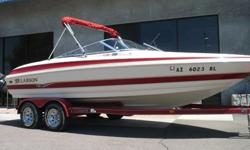 2002 Larson LXi 210 Bowrider Very Good Condition Inside and Out with Only 379 Original Hours on Volvo 5.0L 220hp V8 and SX Drive, Bimini Top, Snap Down Bow and Cockpit Cover, Wrap Around Style Rear Seating, Cockpit Table, Flip Up Bolster Seats, Clarion