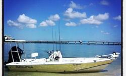 """I'm selling my 2004 Sea Fox Flats Fox. It's 16' in length with a wide beam of 88"""" (7'4""""). It comes with EVERYTHING!19' TFO Push PoleMinn Kota 55lb Thrust Trolling Motor6' Power Pole6' Stick It anchor PinLenco Trim TabsNew SteeringRebuilt Motor with LOW"""