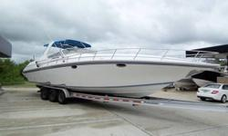 Fountain is well known for offshore performance boats, fantastic center console fishing boats, and luxurious cruising boats. This 38 express cruiser has all the comforts of a sea side luxury condo, and the performance of a top tier sport boat. This one
