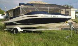 2008 Sea Ray 185 SPORT Just detailed and Only 140 hours. One of Sea Rays most popular Sport Boat Bow Rider models. The 185 is actually 19.8' in lenght offering a comfortable ride and sporty lines. Includes Trailer with swing-away tongue for convenient
