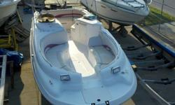 2000 Chaparral Deck boat Sunesta $16,950.00 *****WITH TRAILER***** Nice condition and well maintained deck boat, 5.0L Volvo motor under 10 hours New U joint Bellows, exhaust bellows, water feed hose, & shift cable. New Long block w/warranty New exhaust
