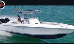 """TWIN 300 VERADO, BLUE CARBON ACCELERATION, HARD TOP, STAINLESS RUBRAIL, STEREO/SIRIUS, HEAD W/ DOCKSIDE, BATTERY CHAGER, 2% PRICING PLUS, PAINTED HULL SIDES. Stock ID: 8055 Specs Length Overall (LOA): 32' 1""""Listing originally posted at"""