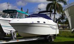 Powered By 5.0 Volvo With Approx 350 Hours On The Motor. Camper Top, Shore Power, VHF, Stereo, Camper Cover, Bimini Top, Comes With 2002 Continental Aluminum Trailer. Priced To Sell