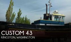 Actual Location: Kingston, WA - Stock #106290 - If you are in the market for a tug, look no further than this 1948 Custom 43, priced right at $50,000 (offers encouraged).This vessel is located in Kingston, Washington and is in good condition. She is also