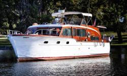 Don't Miss This Amazing Opportunity to buy a classic 1953, 45' Chris Craft Double Cabin Flybridge Motor Yacht! The perfect cruiser or live aboard, this is a luxurious motoryacht with flawless style and class that comes with an amazing history that only a
