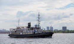 "Steamship Admiral (project No 730) (formerly named ""Admiralteets"") was built in 1955 in St Petersburg in Russia at the Dubitski shipyard No 711. Admiral was intended to serve the Soviet Navy as an auxiliary ship (tugging and providing with"