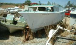 Do You Know Her Make & Model Unsure of what year make and model this classic is but it is retro. The matching trailer was used to bring it in. If you know any information we would love to here from you. Boat and trailer $475. Special for Restaurateur! Our