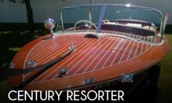 Actual Location: Deer Park, WA - Stock #108839 - If you are in the market for an antique, look no further than this 1958 Century Resorter, priced right at $25,000 (offers encouraged).This boat is located in Deer Park, Washington and is in mint condition.