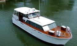 """More Category: Powerboats Water Capacity: 0 gal Type: Motoryacht Holding Tank Details:  Manufacturer: Chris-Craft Holding Tank Size:  Model: Constellation Passengers: 0 Year: 1960 Sleeps: 0 Length/LOA: 50' 0"""" Hull Designer:  Price: $199,900 /"""