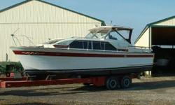 1964 Chris Craft Constellation, GOOD CONDITION,GPS,DEPTH,VHS,SAFETY EQUIPEMENT.MORING COVER WHITE,WITH MORON ACCENTS Call Gord 519-355-8000.Boat is in Port Lampton,Ontario,CA. Category: Powerboats Water Capacity: 0 gal Type:  Holding Tank Details: