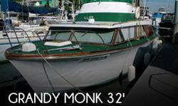 Actual Location: Tacoma, WA - Stock #068846 - If you are in the market for an antique boat, look no further than this 1964 Grandy Monk 32 Marlineer, priced right at $22,450.This vessel is located in Tacoma, Washington and is in good condition. She is also