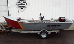CLASSIC DORY! 1965 Pacific City Dory Dory IN STOCK! ? EZ Loader galvanized single axle with spare tire and bunk load guides ? Dual Batteries with switch ? Fuel Water Separator ? Mercury 40hp 4-Stroke ? 2 oars with oar locks ? 2 fixed bench seats and 1