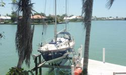 """35' allied Seabreeze 1966 Yawl design. With centerboard keel 3'1.0"""" shoal draft. 30HP Westerbeke diesel, gas stove and oven. Engine driven refridgeration(Grunert). stainless steal winches 8 sails, and Autopilot . Contact: Captain Corey for more infomation"""