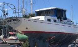 Own one of the first fiberglass boats ever built! A classic beauty with long overhangs and a stately profile...this piece of yachting history could be yours! One of the earliest fiberglass yachts of this size. The first reportedly was for the builder,
