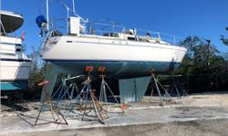 Actual Condition It is reported this Classic Cal was damaged during Hurricane Irma. She suffered impact damage to the port side hull, lost her rig, and the interior is in disarray. The vessel should be inspected prior to bidding. Equipment A trailer is
