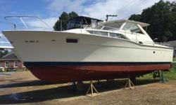 1969 Chris Craft Commander 35 available for sale for the second time in nearly 50 yrs. It was last purchased in 2015 from the original owner. She is 100% original and in extraordinary condition. The Hull and Gel Coat are amazing. She has Twin Chris Craft