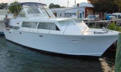 1969 Custom-Built Cruis Along 38 Double Cabin 38 foot double cabin cruiser. Full galley with 10 cubic foot refrigerator 3 burner electric stove with rotisserie oven & microwave. On board 6.5 kw generator built in AC full separate shower. Powered by 2-440