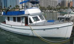 They really don't make classically-designed boats like the Eagle 40 Trawler anymore. This 1971 model is an excellent cruising vessel for family & friends. It has great fuel economy due to its Cummins 220 diesel engine & full displacement hull. The