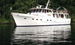 Beautiful, Rugged and Spacious. Built in Japan and powered by twin 125Hp Caterpillar D330 Diesel engines.Three staterooms, two heads, laundry room, walk in closet and storage everywhere. Proper pilothouse, Simard Anritsu 48 mile open array radar,