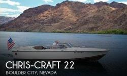 Actual Location: Boulder City, NV - Stock #105451 - If you are in the market for an antique, look no further than this 1972 Chris-Craft XK-22, just reduced to $39,500 (offers encouraged).This boat is located in Boulder City, Nevada and is in great