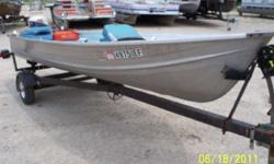 1972 14ft Nice Montgomery Ward Fishing Boat You are looking at A 1972 Montgomery Ward. This boat has a 4hp Evinrude on it & a Ninn Kota Trolling Motor on it, for a starter boat I would say it is well equipped. Any questions please call or e-mail us. This