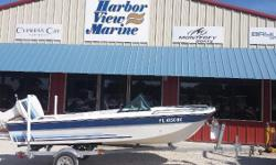 This is a fresh trade from the original owner. It is in very nice shape with all nice clean cushions. Runs well and has a good trailer. Nominal Length: 15' Engine(s): Fuel Type: Other Engine Type: Outboard Stock number: 4829 SD