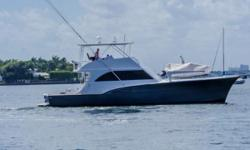 Refit in 2012! Bring all offers!! Can be seen at Stuart Boat show 1/11-13/19 The 53' Hatteras Convertible is one of the famed builders most successful hulls. Boat is turn key ready for your next trip to the Bahamas with your family or a day fishing out