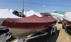 """16' Lund with 40 HP Evinrude engine. Port side console aluminum boat with a swing tongue trailer. Perfect for rivers or lakes as it is easy to tow. """"V"""" shape Hull giving it the ability to get into a wide variety of waterways. Swing tongue trailer makes"""