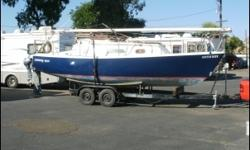 1974 Balboa Sailboat 1974 BALBOA Sailboat, Anchor with 150ft rode, bilge pump, compass, depthfinder, halon, running lights, 2 3gal gas cans, halon, porta potty, refrigeration, 3 sails, sink, 2 axle trailer, vhf radio, 2 winches, electrical panel, water