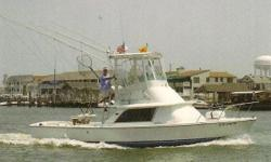 """1974 31 Bertram """"BREAKAWAY"""" was repowered in 2006 with a pair of 6LPA-STP 315hp engines. Boat was also rewired, New Air Conditioning, Cockpit Floor, Steering System, Fuel Tanks, Dripless Shafts, and Lexan Side Windows were replaced as well as NEW Hull"""