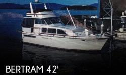 Actual Location: Olympia, WA - Stock #103084 - If you are in the market for a motor yacht, look no further than this 1974 Bertram 42 Motoryacht, just reduced to $87,300 (offers encouraged).This vessel is located in Olympia, Washington and is in great