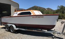 1953 Chris Craft Cabin Cruiser 21 Fully Restored Beautiful Cabin Cruiser Low Hours Like New Must See to Appreciate AM FM Fish Box Boat Cover Salt Water Located in Orange CA Financing Nationwide Shipping And Warranties Available To Qualified Buyers Stock