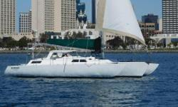 This classic custom Norman Cross trimaran is a proven cruiser. She has recently returned from a cruise down to South America and through the Panama Canal. Many upgrades including new upholstery, top sides, and bottom paint. She was re-rigged in 2014. She