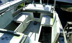 Comes with a Main sail, Boom Cover, Boom Tent. Sleeps 4, has a head and a trailer. Hull color: WHITE